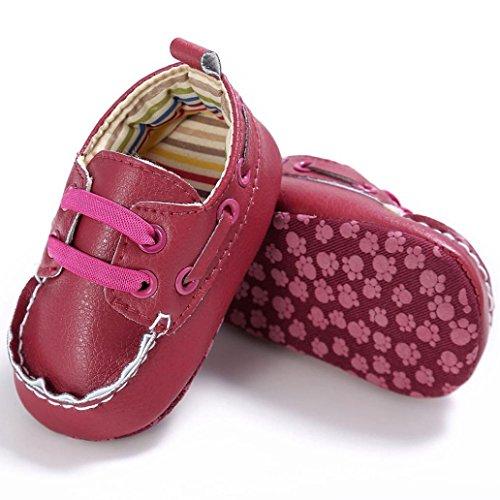 Tefamote Zapatos Botines Cuero de Suela Blanda Cuna Para Bebé Recién Nacido Niño niña Rosas fuertes