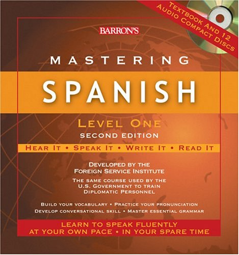 Mastering Spanish, Level One with Audio CDs (Mastering Series/Level 1 Compact Disc Packages)