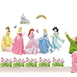 The Splash Cute Angels Wall Stickers (Multicolor, Wall Covering Area - 100(w) x 80(h) cm)