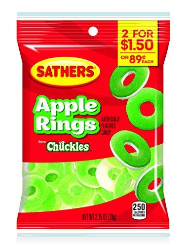 Sathers Gummallo's Apple Rings, 2.75 Ounce Bag, Pack of ()