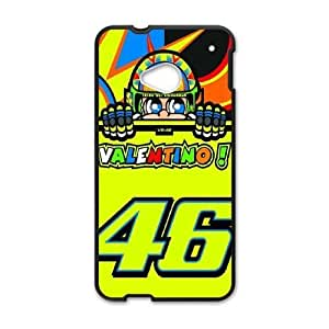 Pattern Hard Case Cover HTC One M7 Cell Phone Case Black Valentino Rossi Vhsne Back Skin Case Shell