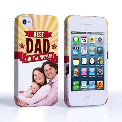 Caseflex iPhone 4 Coque Personnalisable Rigide Rouge Meilleur Papa Du Monde