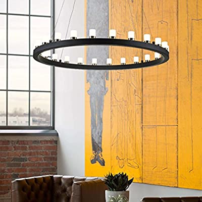 mirrea Modern Dimmable LED Chandelier Pendant Light Warm White