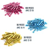 Heat Shrink Insulated Butt Connectors 220PCS - Waterproof Terminal Connector Kit by Pro Fuse- Suitable for Automotive, Marine and Electrical spliced Wire sealing - Colour Coded(3 Colour | 3 Sizes)