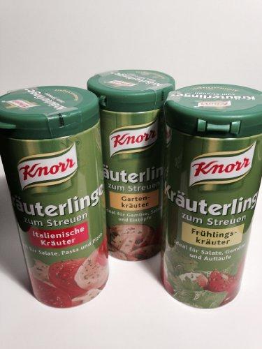 Knorr Garden, Spring and Italian Herbs Seasoning Mix (Knorr Kräuterlinge Garten-, Frühlings-, Italienische Kräuter, 2.1oz - 60g Each - 3 Items Total) ()
