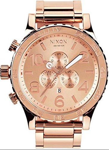 - NIXON 51-30 ROSE GOLD MENS CHRONO