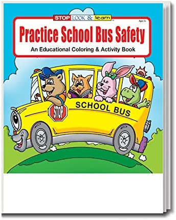 Practice School Bus Safety Kids Coloring Activity Book In Bulk