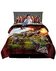 Universal Jurassic World Soft Microfiber Comforter, Sheets and Plush Cuddle Pillow Bedding Set