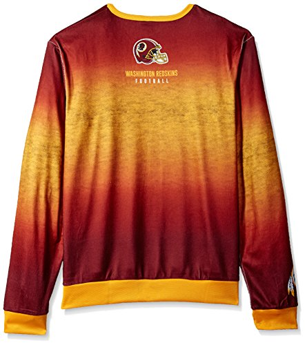 Forever Collectibles Herren bedruckt Farbverlauf Crew Neck Sweater, Washington Redskins, groß
