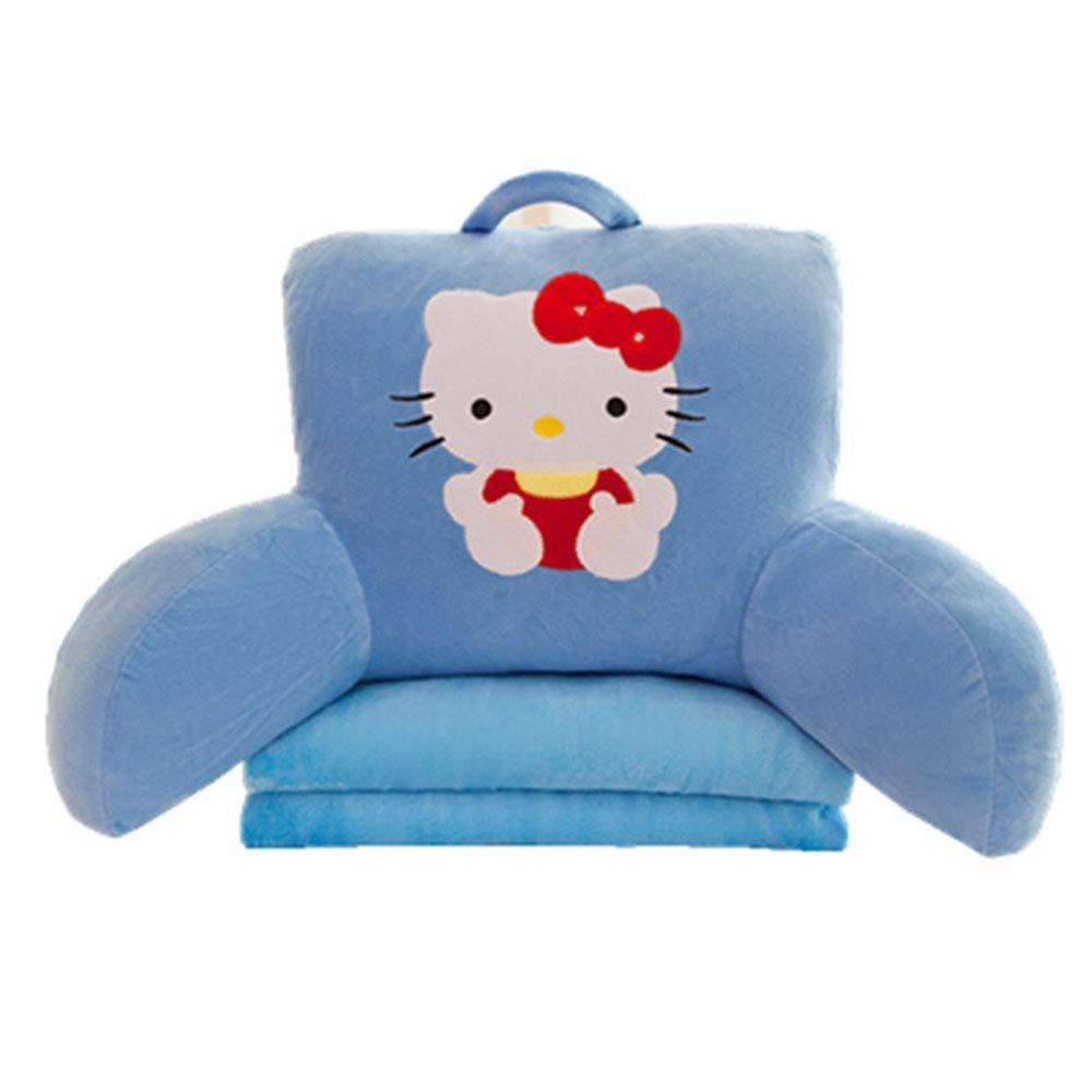 E.a@Market Children's Flax Back Cushion Lumbar Pillow Cartoon Pattern (Hello Kitty)