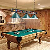 "Wellmet 59"" Pool Table Light, 3 Lights Hanging Pool"