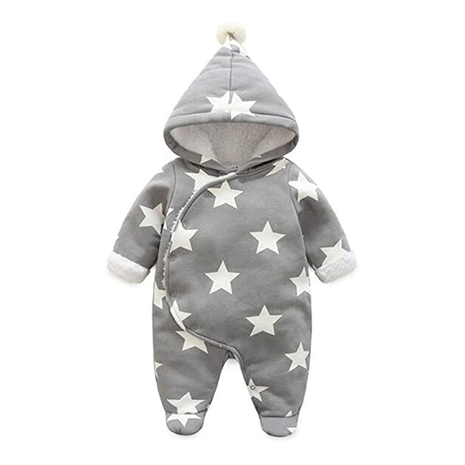 d71608590 Meijunter Newborn Boys Girls Thicken Star Prints Snowsuit Baby ...