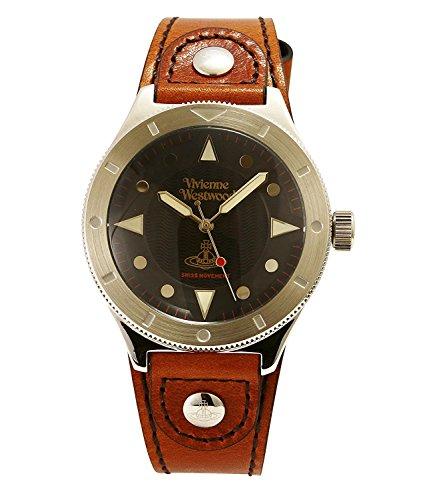 Vivienne Westwood watch SMITHFIELD black dial brown leather Quartz VV160BKBR Men's parallel import goods]