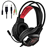 Cheap Dinly PS4 Gaming Headset with Mic, 3.5mm Stereo Over Ear Headphones with Volume Control & Noice Cancelling for Playstation 4 / Xbox One / Nintendo Switch / PC / Tablet / Smartphone