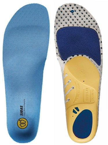 Sidas Run 3D стельки, голубые, большие (Mens-9 10 / женщин-10 до 11)