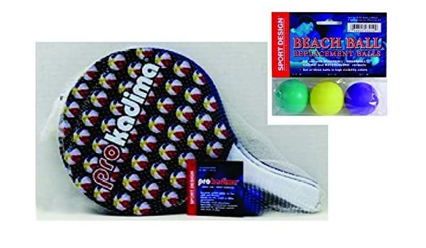 Pro Kadima: Paddle Ball Set with Replacement Beach Balls- Beach ...