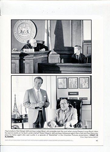 Alabama Rod - MOVIE PHOTO: Crazy In Alabama-Rod Steiger-Lucas Black-8x10-B&W-Still