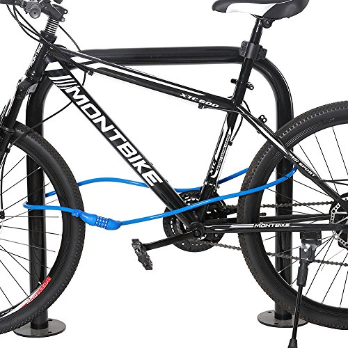 Fence Titanker Bike Chain Lock Motorcycle Gate 8mm Thick Chain x 3.3ft, Blue Bicycle 3.3 Feet Security Anti-Theft Bike Lock Chain with Keys Bicycle Chain Lock Bike Locks for Bike Grill Door