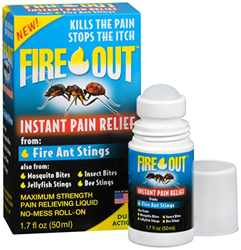 Fire Out Instant Pain Relief from Fire Ant Stings, 1.7 Ounce Roll-On