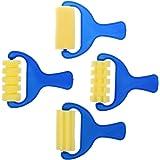 VANKER 4pcs / Set de rodillos de esponja Stamper acuarela aguada infantil para niños cepillos de pintura