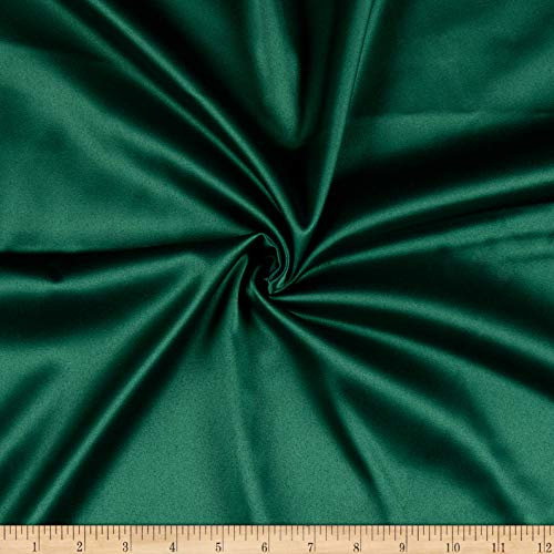 Ben Textiles Stretch L'Amour Satin Fabric, Green, Fabric By The Yard