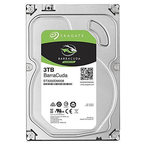 Seagate 3TB BarraCuda SATA 6Gb/s 64MB Cache 3.5-Inch Internal Hard Drive (ST3000DM008) (Certified Refurbished) by Seagate