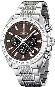 Festina 6304 - Reloj , correa de acero inoxidable color plateado