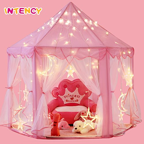 Intency Pink Princess Castle Kids Play Tent Large Children Playhouse for Girls Indoor Outdoor Use by Intency