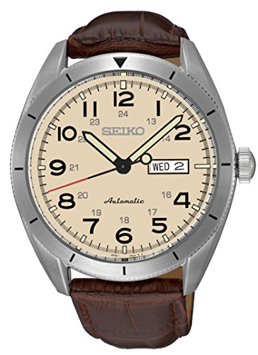 Seiko Sport Beige Dial Automatic Mens Watch SRP713