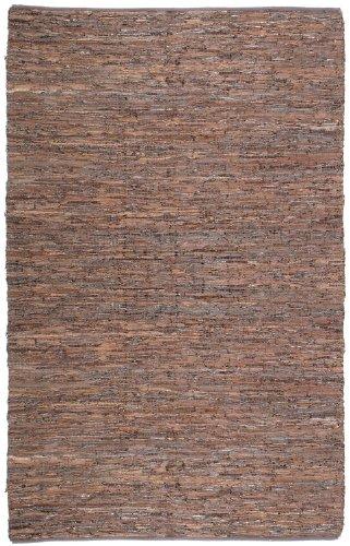 Brown Leather Matador 4'x6' Rug