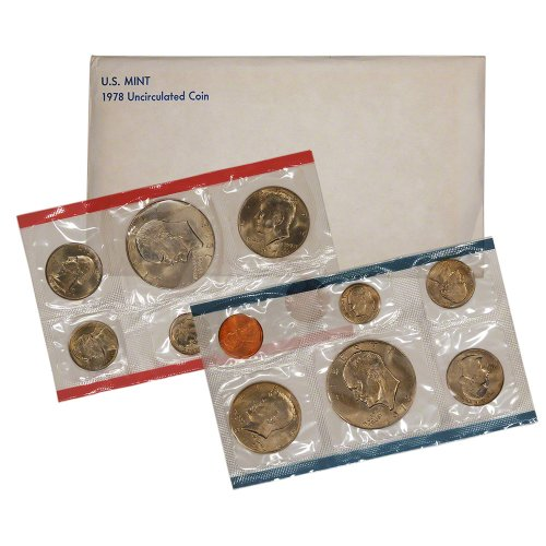 United States Mint Mints Coin - 1978 United States Mint Uncirculated Coin Set in Original Government Packaging