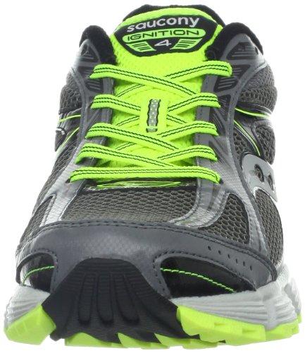 Saucony Grid Ignition 4 - Zapatillas de running para hombre, color gris / negro