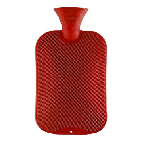 Red Classic Hot Water Bottle water bottle by Fashy