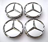 TSD 4 Pcs Outer Diameter 75mm Silver Wheel Cover Hub Center Caps Apply to Mercedes-Benz (Alternatives)