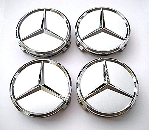 - TSD 4 Pcs Outer Diameter 75mm Silver Wheel Cover Hub Center Caps Apply to Mercedes-Benz (Alternatives)