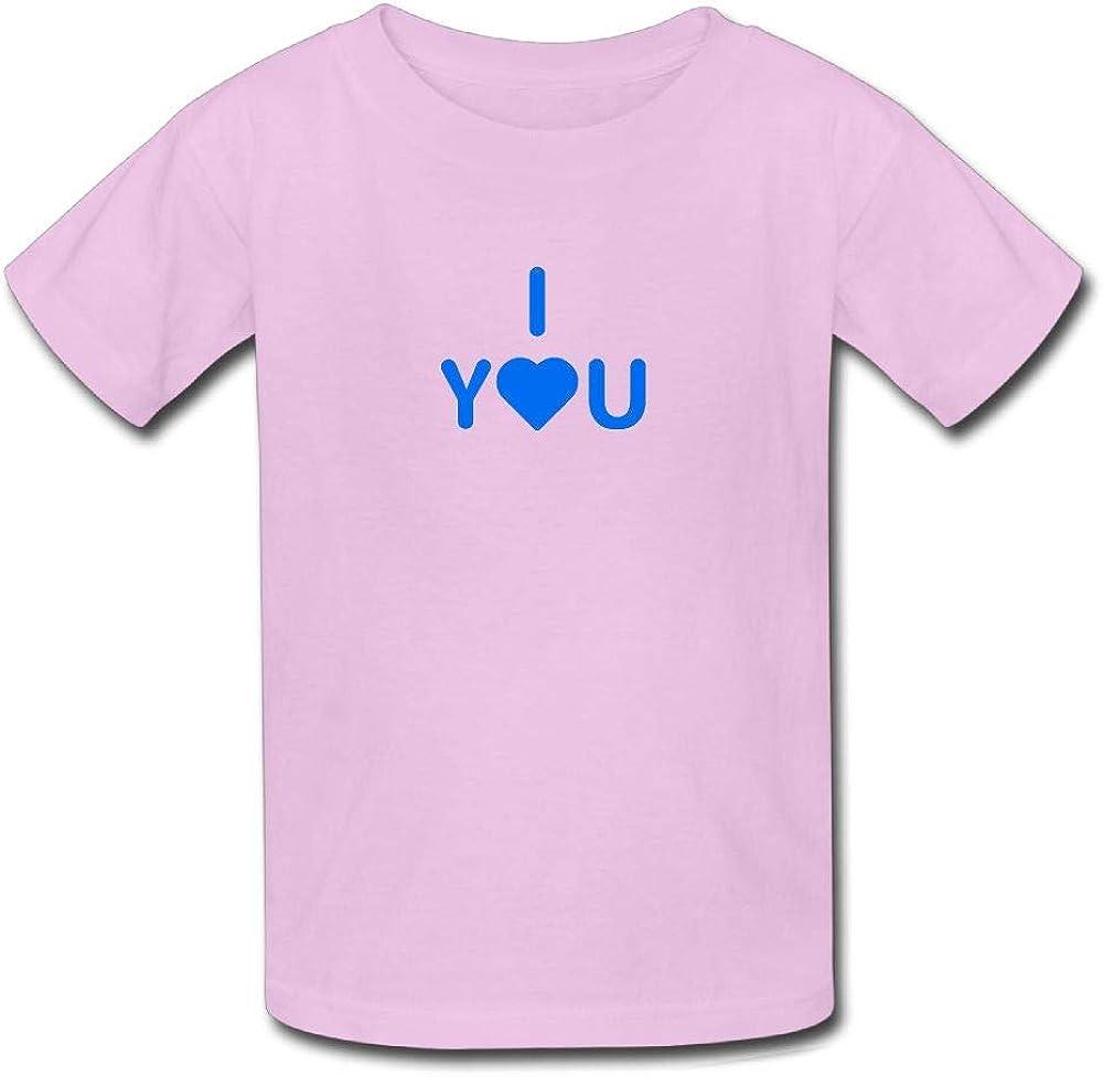 Kids I Love You Heart Romance T-Shirt Little Boys Girls T Shirt for Toddler Funny Top Tees
