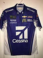 Extra Small 2017 Cessna Airplanes Jaime McMurray MONSTER Energy Pit Crew Shirt Nascar Ganassi #1 Sparco Racing Textron 1/4 ZIP Chevy Chevrolet