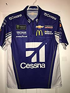 Small 2017 Cessna Airplanes Jaime McMurray MONSTER Energy Pit Crew Shirt Nascar Ganassi #1 Sparco Racing Textron 1/4 ZIP Chevy Chevrolet