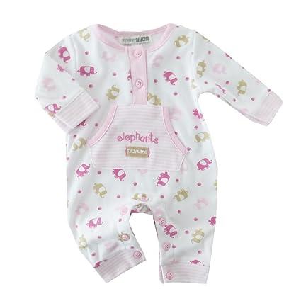 NUEVO | Pelele Mono Pijama Blanco de Rosa Elefante | 50 56 62, 68 blanco