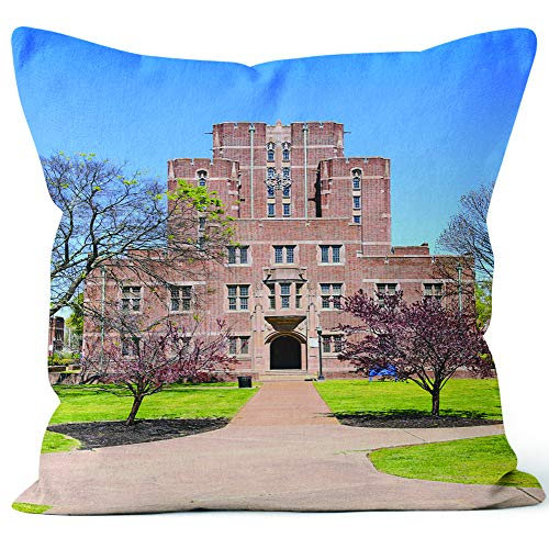 Cravath Hall Building on Fisk University Campus in Nashville TN Throw Pillow Cushion Cover,HD Printing Decorative Square Accent Pillow Case,16