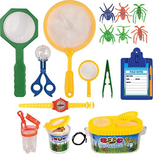 Kangaroo's Insect Bug Adventure Set; 18 Pc Backyard Exploration Kit - Bug Kit
