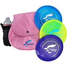 Kestrel Disc Golf Pro Set | 3 Disc Pro Pack Bundle + Bag | Disc Golf Set | Includes Distance Driver, Mid-Range and Putter | Frisbee Golf Set