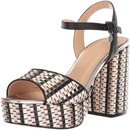 A X Armani Exchange Women's Plaited Strappy Heel Heeled Sandal