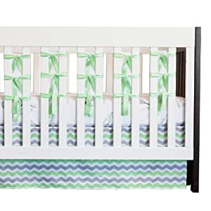 Oliver B 3 Piece City of Dreams Crib Bedding Set, Mint/Grey/White