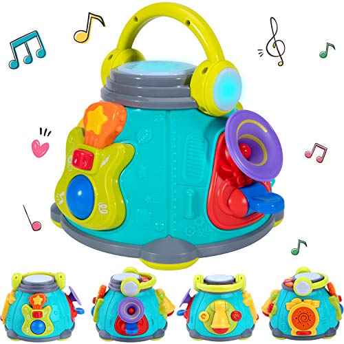 iPlay, iLearn Baby Music Activity Cube Play Center, Kids Musical Singing Sensory Toys, Lights 'n Sounds, Educational Rhyme Gift for 9, 12, 18 Months, 1, 2, 3 Year Olds, Infants, -