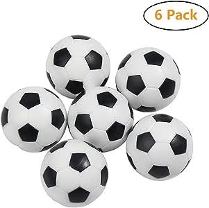 Homiki 6 pequeños balones de fútbol, estilo de fútbol de mesa, de plástico Duro, balones de mesa, homologados, Juego, Juguete de Niños: Amazon.es: Hogar