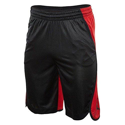 Air Jordan Shorts Basketball (NIKE Men's Air Jordan Flight Basketball Shorts Black Red AA5581 011 (m))