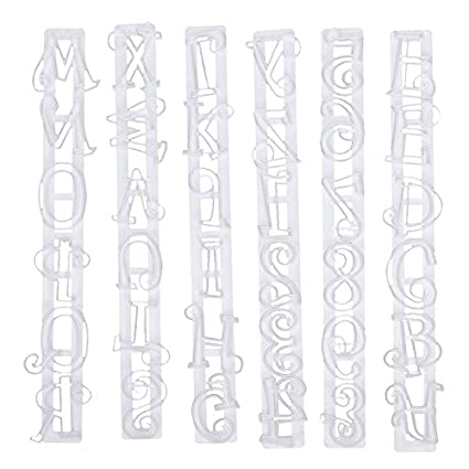 Amazoncom Cake Tools 1 Set Alphabet Number Letter Icing Cutter