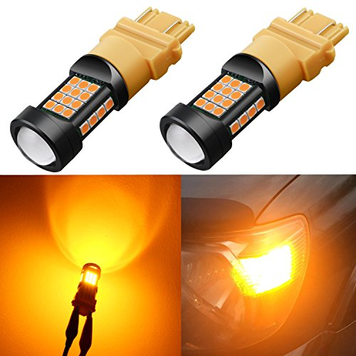 Alla Lighting 1000 Lumens 3030 36-SMD Extremely Super Bright Amber Yellow 3057 3056 T25 3157 3156 LED Bulbs High Power LED Turn Signal Blinker Lights Bulb Lamps Replacement (Amber Yellow) (Driver G10 Draw)