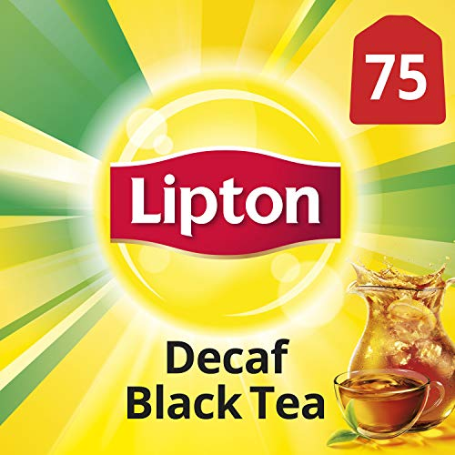 Lipton Black Tea Bags, Decaffeinated 75 ct (Lipton Decaffeinated Tea Bags)